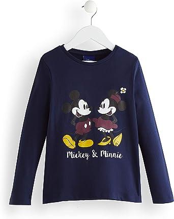 Marca Amazon - RED WAGON Camisa Manga Larga Mickey y Minnie Mouse Niñas, Azul (Navy), 104, Label:4 Years: Amazon.es: Ropa y accesorios