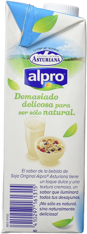 Central Lechera Asturiana - Bebida De Soja Calcio Alpro Brik 1 L: Amazon.es: Alimentación y bebidas