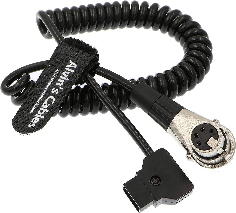 Alvins Cables XLR 4 Broches Femelle Angle Droit /à D-Tap C/âble dalimentation pour Arri Cam/éra Moniteur 60CM