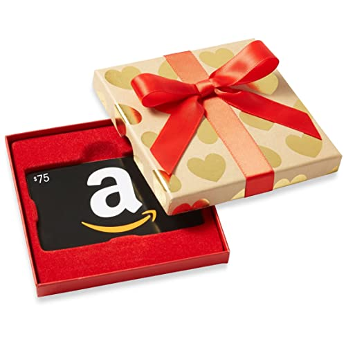 $75 Gift Card in a Gold Hearts Box image link