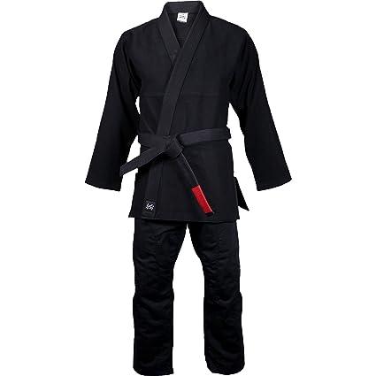 SCRAMBLE BJJ Gi V2 Standard Issue Semi Custom Brazilian Jiu Jitsu Kimono Black