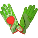DIGZ Signature High Performance Women's Gardening Gloves and Work Gloves with Touch Screen compatible fingertips, MEDIUM