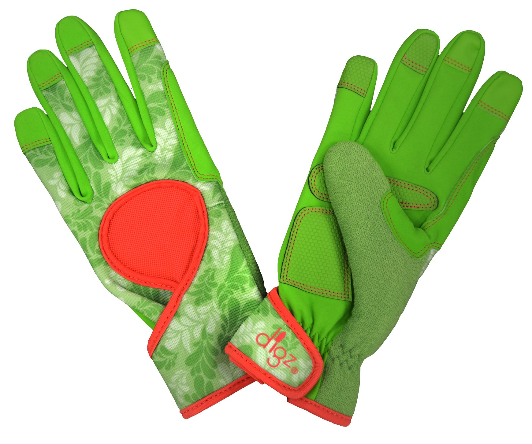 DIGZ Signature High Performance Women's Gardening Gloves and Work Gloves with Touch Screen Compatible fingertips, Large