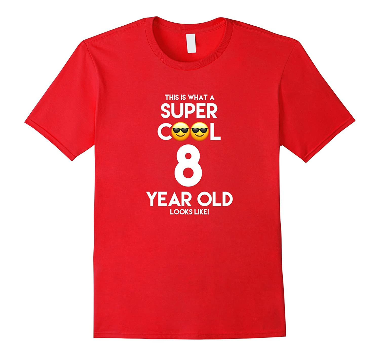 8 Year Old Cool Emoji Birthday Boy/Girl Tee Shirt