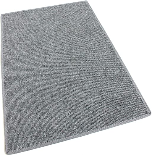 Koeckritz 9 x12 Gray Indoor-Outdoor 3 16 Thick Olefin Area Rug with Latex Backing