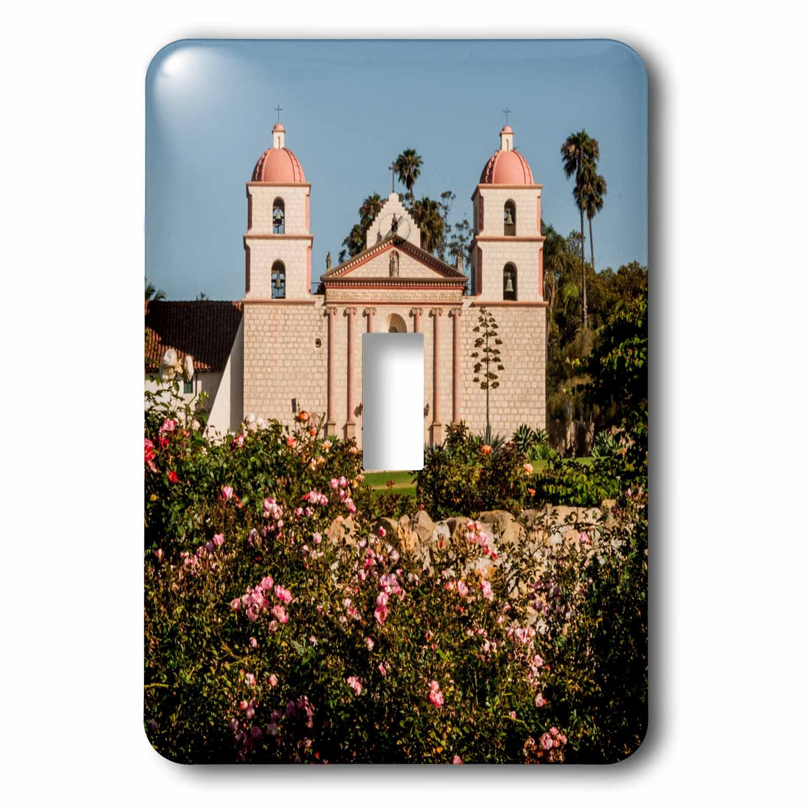 3dRose LSP_229834_1 USA California, Santa Barbara, Mission and Rose Garden Toggle Switch, Mixed by 3dRose