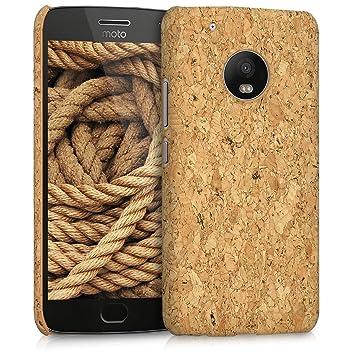 kwmobile Funda para Motorola Moto G5 Plus - Carcasa Protectora de [Corcho] para teléfono móvil - Cover [Trasero] rígido y Resistente