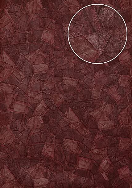 Embossed Wallpaper Wall Atlas STI 2015 5 Non Woven Leather Look