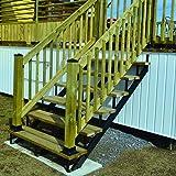 Pylex 13906 6 Steps Steel Stair Stringers, Black
