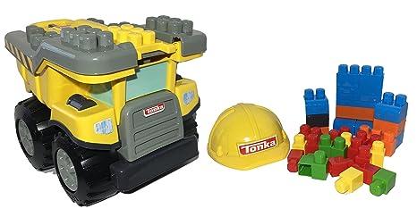 Tow N Go >> Amazon Com Tonka Mighty Builders Tow N Go Tuff Truck 40 Piece Set