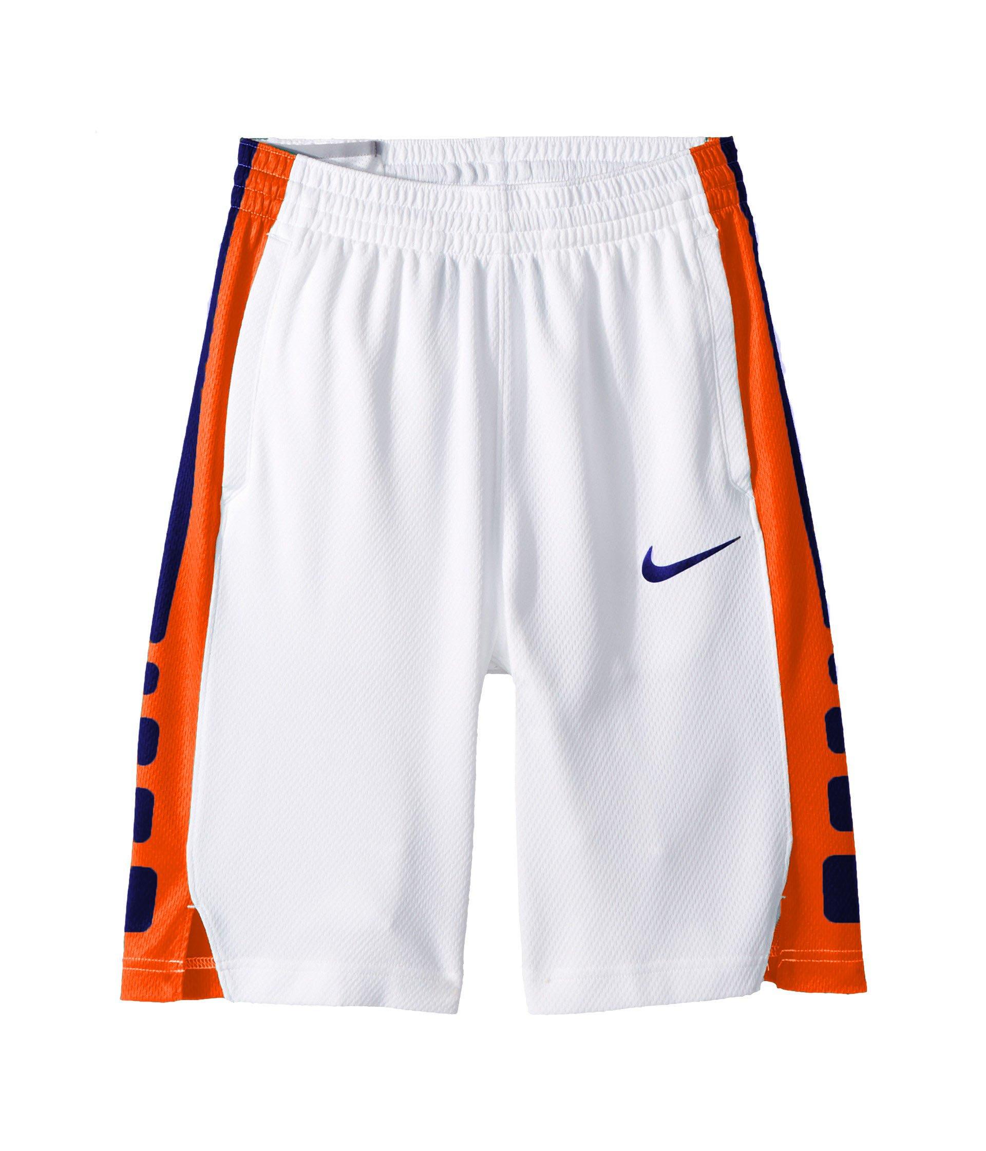 Nike Big Kids' (Boys') Dri-FIT Training Shorts (White(850877-102)/White/Rush Blue, Small) by Nike