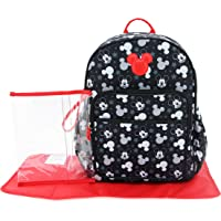 Cudlie Disney Mickey Mouse Baby Boys Multipiece Diaper Bag Backpack with Adjustable Straps in Heads & Stars (Includes…