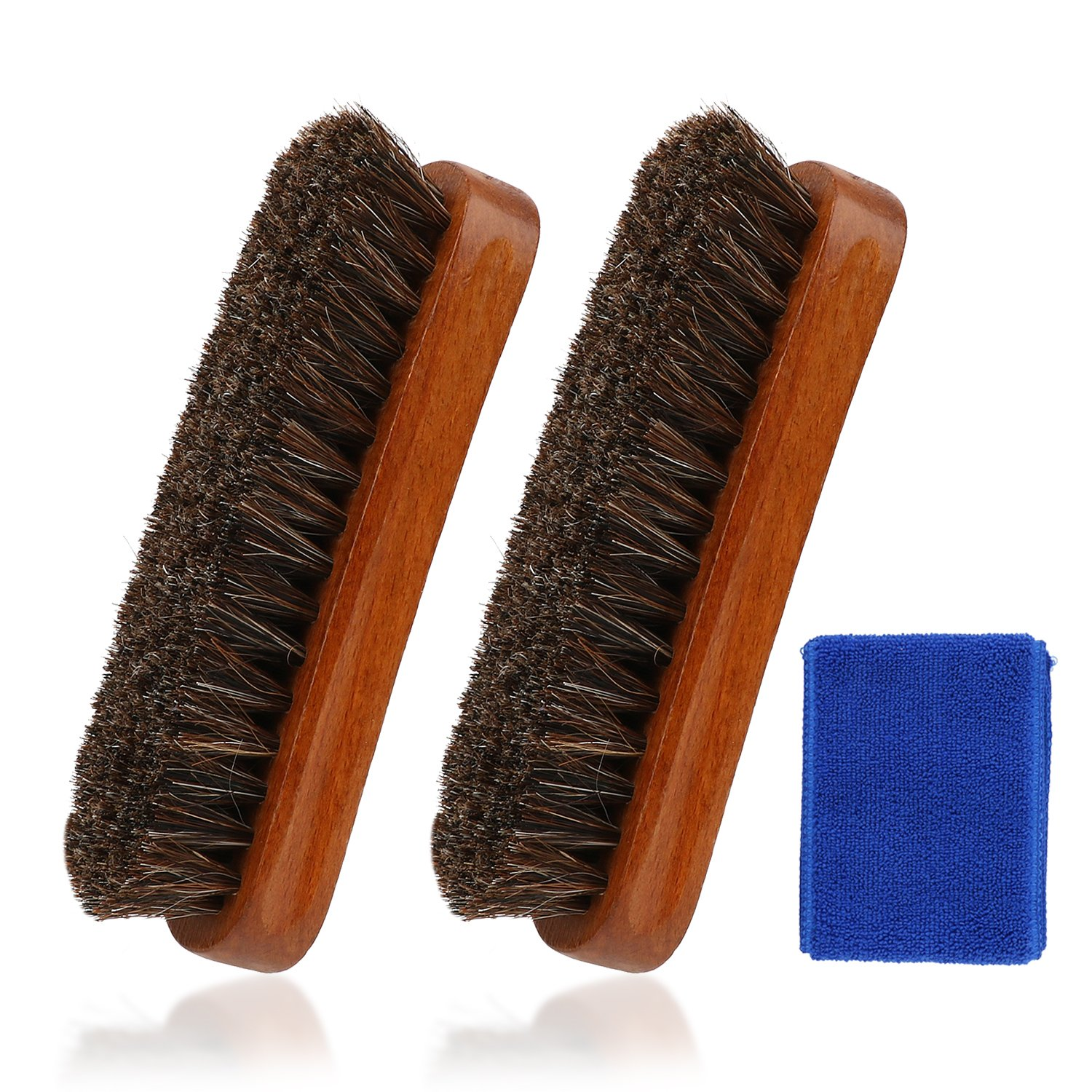 Soft Horsehair Bristles for Boots Shoes Leather Shine Brush Furniture BL3