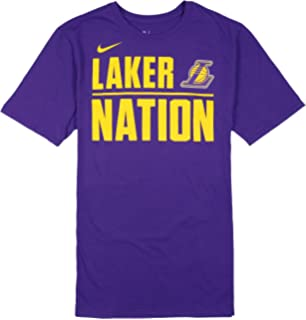 NIKE Mens Los Angeles Lakers Laker Nation T-Shirt Large Purple