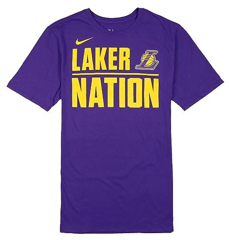 af2ecb24d89b9 Amazon.com: Nike Men's Los Angeles Lakers Laker Nation T-Shirt Large ...