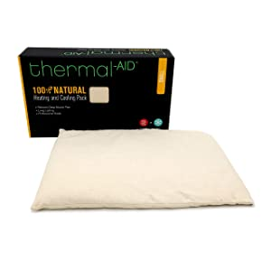 Thermal-Aid — Cooling and Heating Pack, Small — Cooling and Heating Pad for Pain Relief with Natural Corn Filling — Reusable, Easy Clean Back, Neck, Headache and Knee Pain Relief Cooling Pad