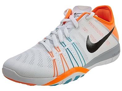 38997f1ca272 NIKE Free TR Training Shoes 6 for Women White Gamma Blue Orange Total 833413