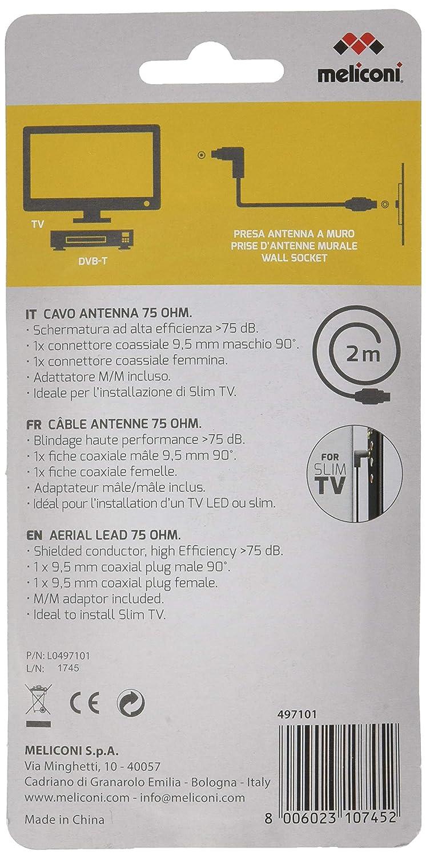 Porta Tv Led Meliconi.Bianco Meliconi Cavo Per Antenna Da 2 M Accessori Audio E Video