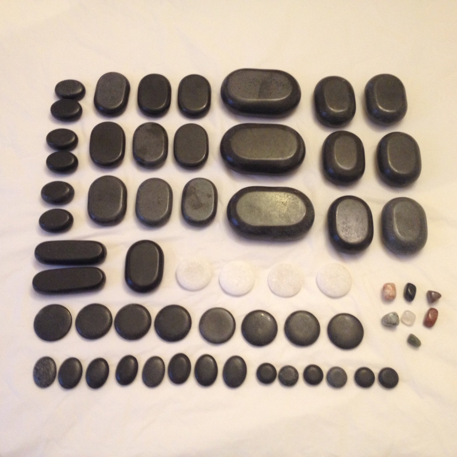 Professional Basalt Lava Hot Stone Massage Loose Kit of 60 Pcs