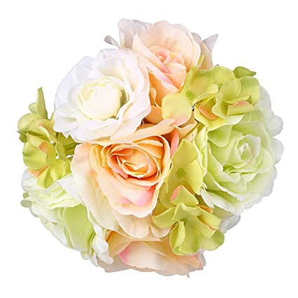 Amazon Adolingo Artificial Flowers Hydrangea Roses Fake Silk