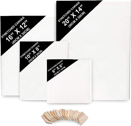 Lienzo para Pintar (Pack de 4) - (50x35cm (20