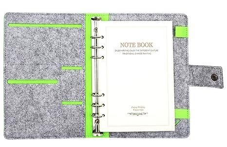 Cuddty Format A5 En Feutre De Laine Housse Ordinateur Portable Professionnel Rechargeables Dcriture Journal
