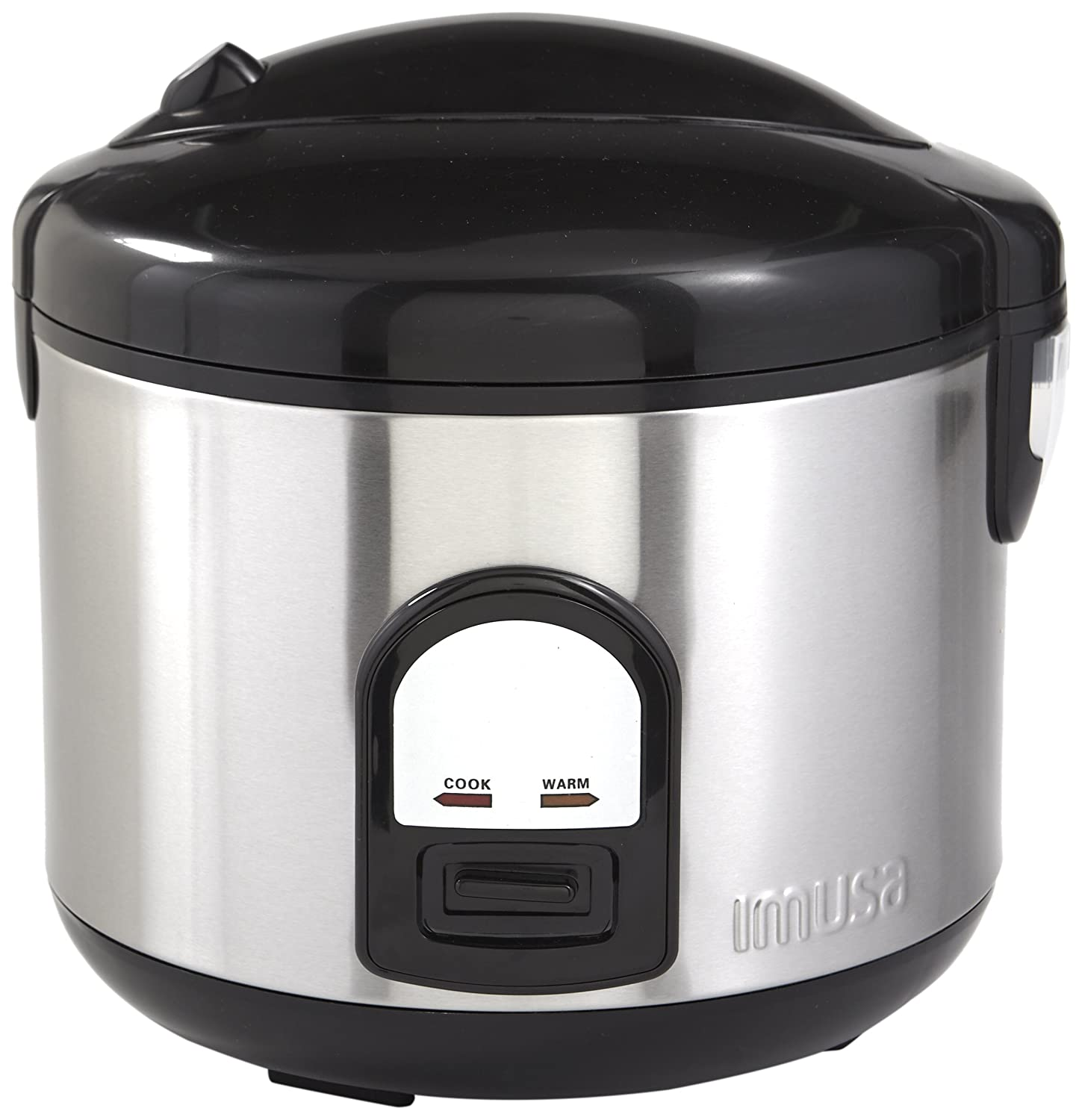 IMUSA USA GAU-00025 10 Cup Deluxe Rice Cooker with Steam Tray, Stainless Steel