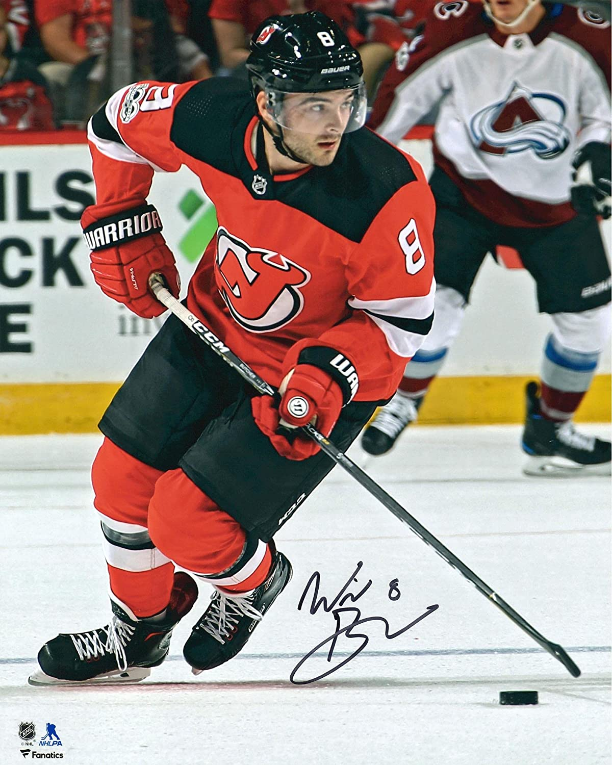 Will Butcher New Jersey Devils Autographed 16