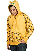 JINX Minecraft Men's Ocelot Premium Zip-Up Hoodie
