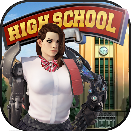 Fashion Robot Girl in Virtual High School Games: New Girl College Life Adventure with First Crush in High School Love Adventure Mission Free for Kids