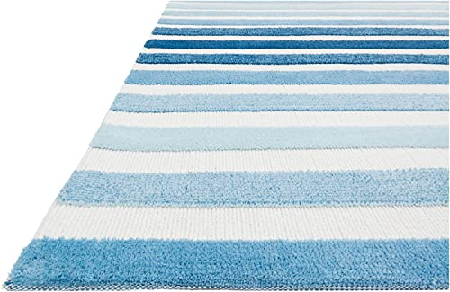 Loloi Rugs Piper Collection Transitional Area Rug, 2-Feet by 3-Feet, Blue Multicolor