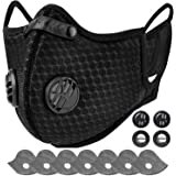 AstroAI Face Mask Reusable Dust Mask with Filters - Adjustable for Woodworking, Construction, Outdoor (Black, 1 Mask + 6 Extr