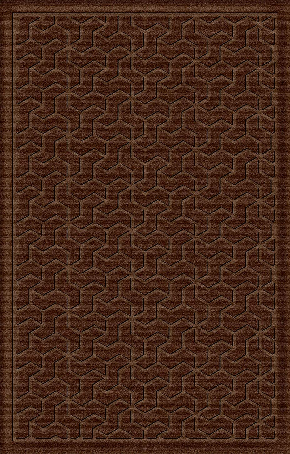American Floor Mats Windmill Designer Floor Mat – Dark Brown 4 x 6 with Gripper Backing, Matching Fabric Borders