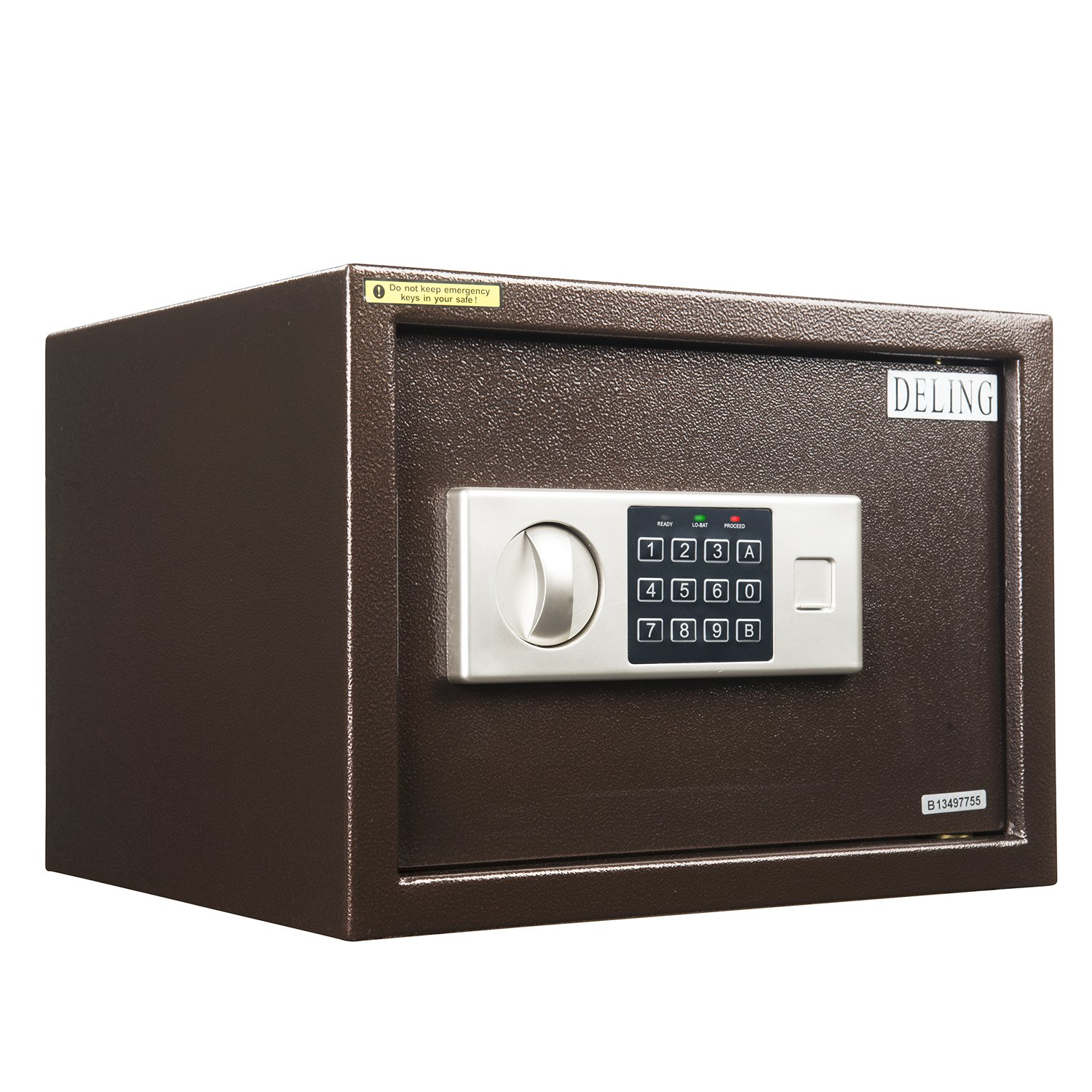 Wonlink 0.8cu.ft. Bronze Small Electronic Digital Safe Box, Password Lock, Key Lock, Jewelry Money Security Box, for Home Office Hotel Business