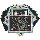 7TECH Rainbow Scratch Art Paper 30 Sheets with Wooden Stylus