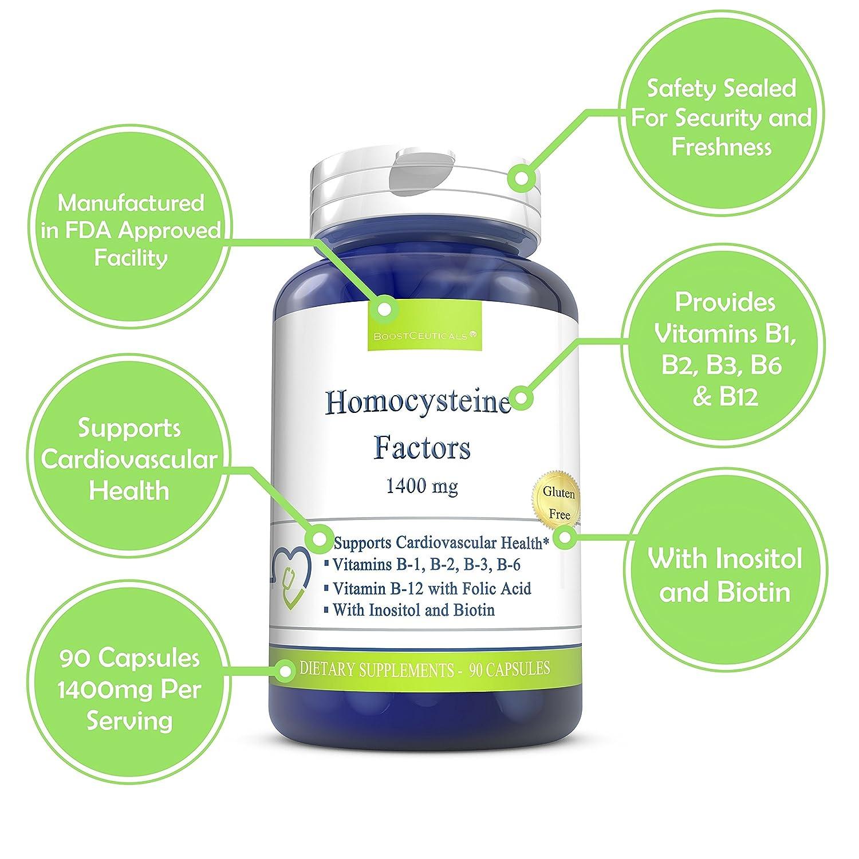 Homocysteine Supreme 1400mg Daily Dose 90 Capsules - No ...