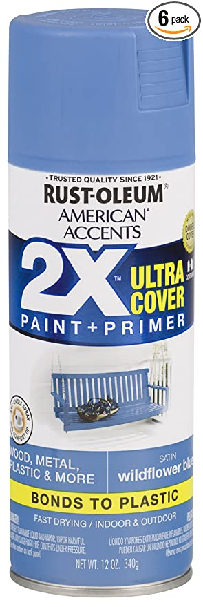 Rust Oleum 327936 6 Pk American Accents Spray Paint Satin Wildflower