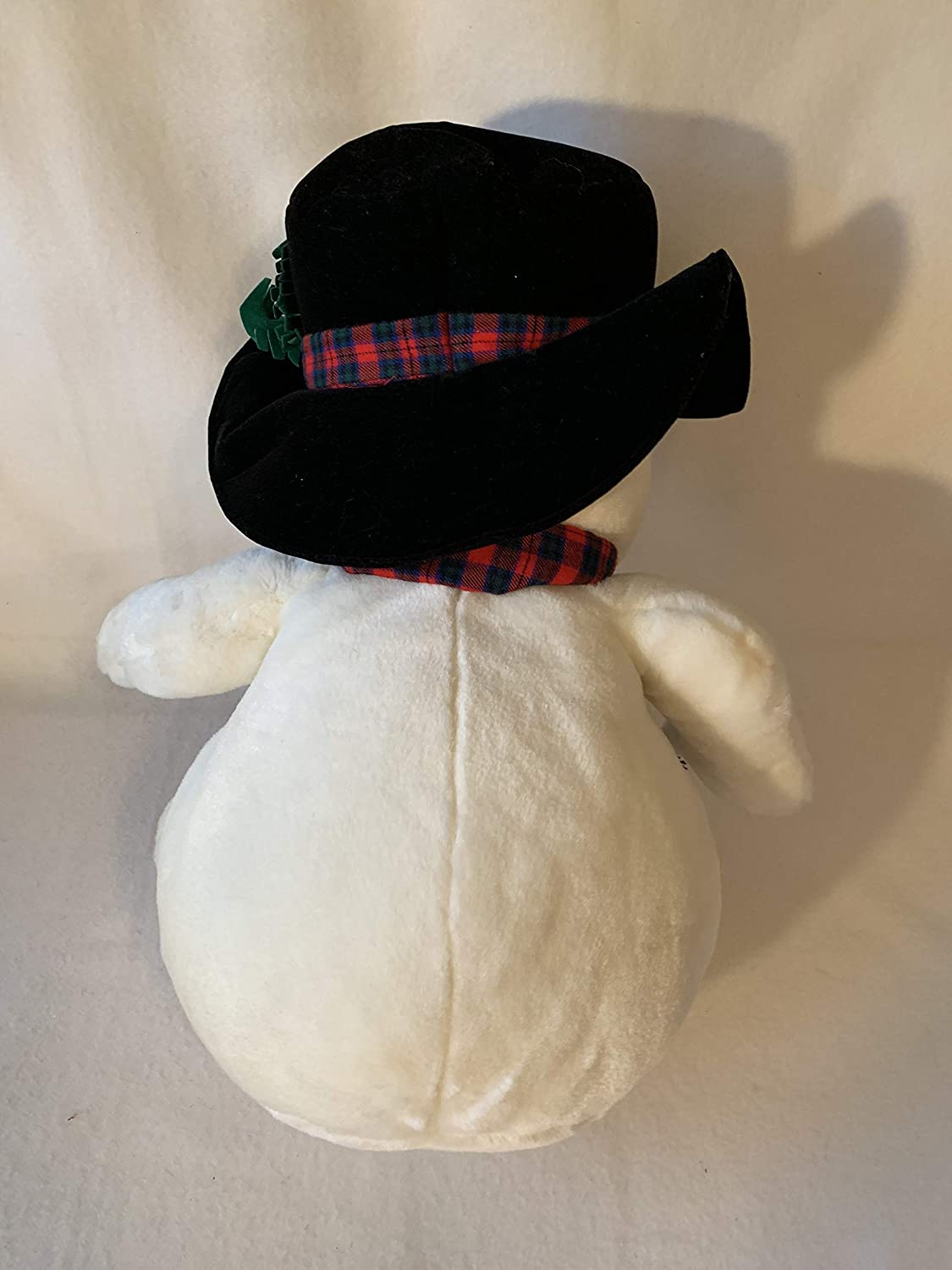 LARGE WEIGHTED CHRISTMAS bear and snowman weighted stuffed animals in 6 lbs