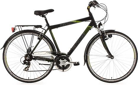 KS Cycling Metropolis - Bicicleta de trekking, color negro / verde ...