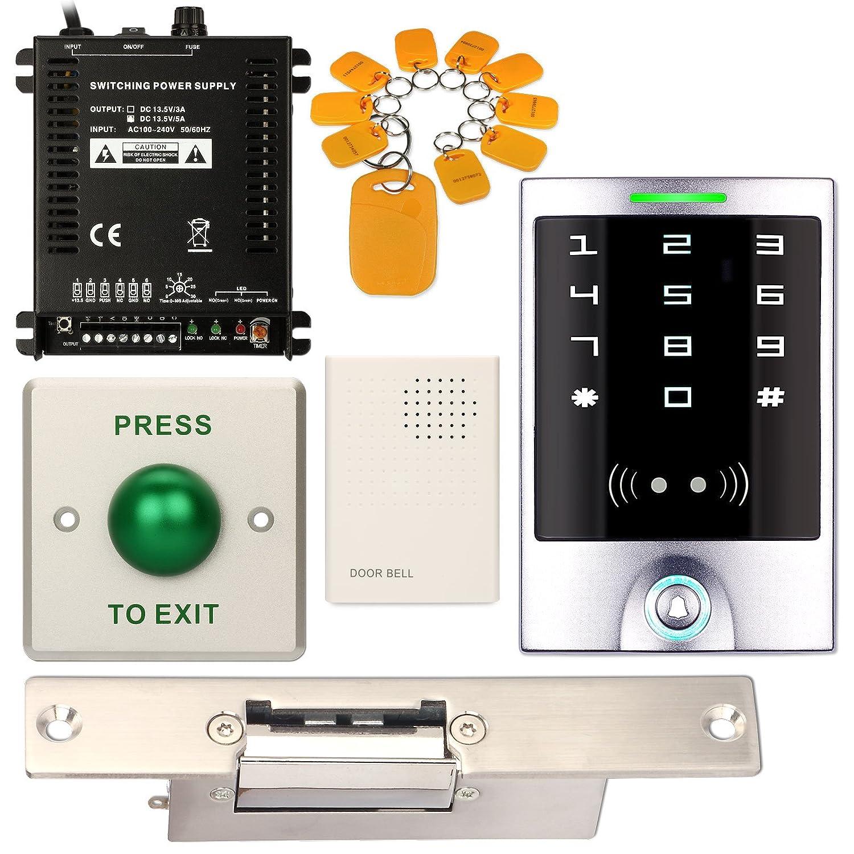 Resistente al agua teclado numérico Office DIY Control de acceso RFID Home interfono + eléctrico Strike para puerta NC Fail Safe: Amazon.es: Electrónica