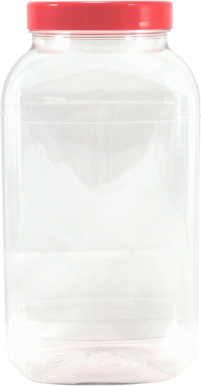 Botes de plástico vacíos grandes de 4500 ml con tapas.