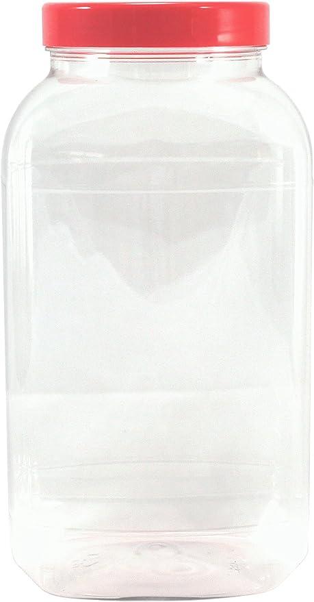 4543 ml Grand Pot en Plastique Vide de Britten /& James/® avec Couvercle Plat Rouge x1