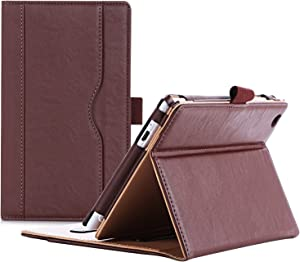 ProCase ASUS ZenPad C 7.0 Case (2015 ZenPad Z170C) with Bonus Stylus Pen - Stand Cover Folio Case for ASUS ZenPad C7.0 (Z170C,Z170CG,Z170MG), Multiple Viewing Angles, Document Card Pocket (Brown)