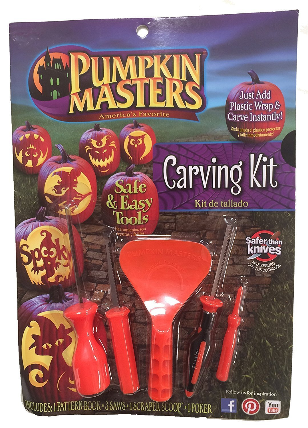 Pumpkin Masters America's Favorite Pumpkin Carving Kit (Pack of 3)