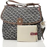 Babymel Satchel Diaper Bag, Wave Elephant Grey