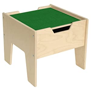 Contender 2-N-1 Activity Table with Green Lego Compatible Top - RTA