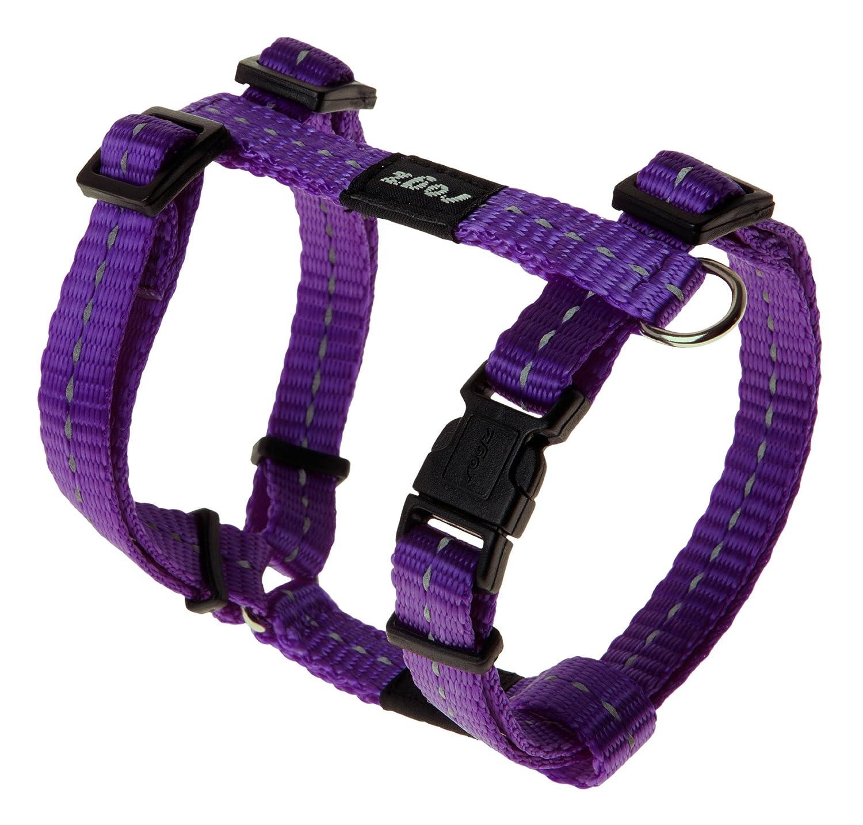 Purple Rogz Utility Small 3 8  Nitelife Adjustable Reflective Dog HHarness, Pink