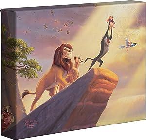 """Thomas Kinkade The Lion King Disney 8"""" x 10"""" Gallery Wrapped Canvas"""