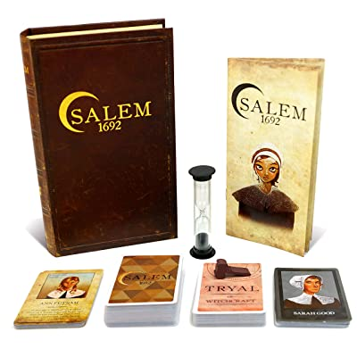 Salem 1692 Board Game - Witch Hunt Game for Friends and Family – 3rd Edition - A Game of Cards, Strategy, Deceit, and Luck for 4-12 Players: Toys & Games