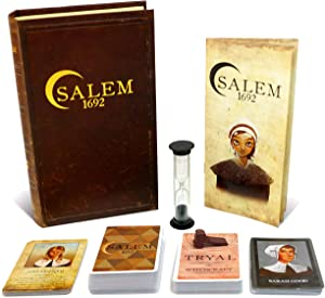 Salem 1692 Board Game - Witch Hunt Game for Friends and Family – 3rd Edition - A Game of Cards, Strategy, Deceit, and Luck for 4-12 Players